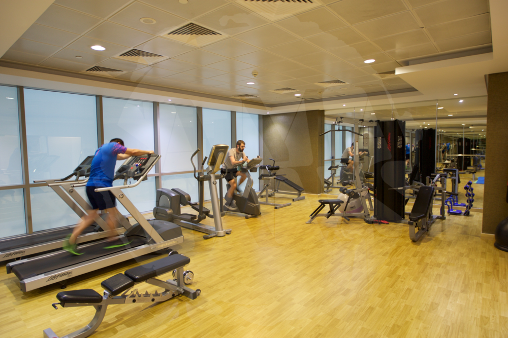 The gym has all the equipment you need to keep fit