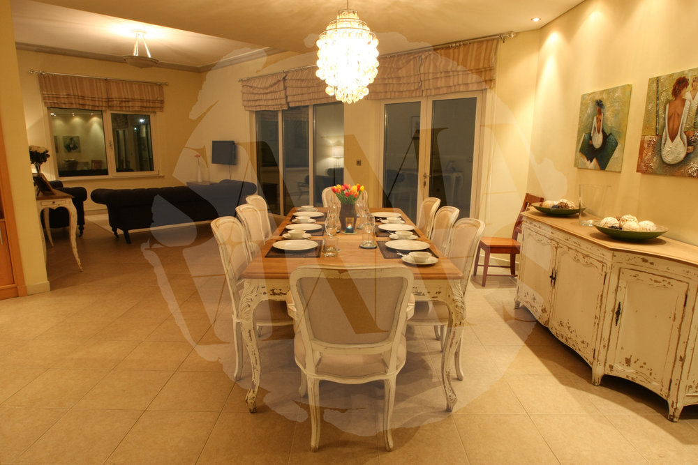Our dining area is super spacious and perfect for evening meals