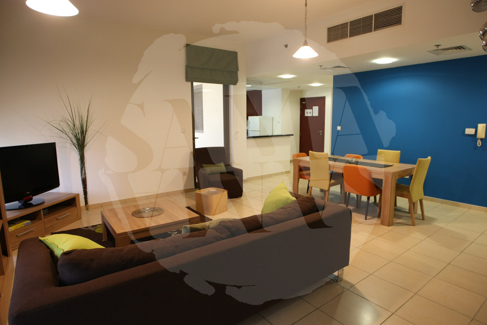 The apartment has an open plan style which makes it spacious and perfect for relaxing