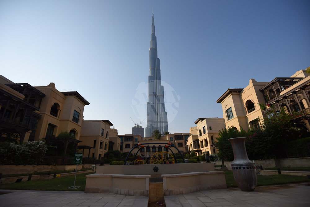 The playground is a great venue for kids and parents to get together and offers breathtaking views of Burj Khalifa