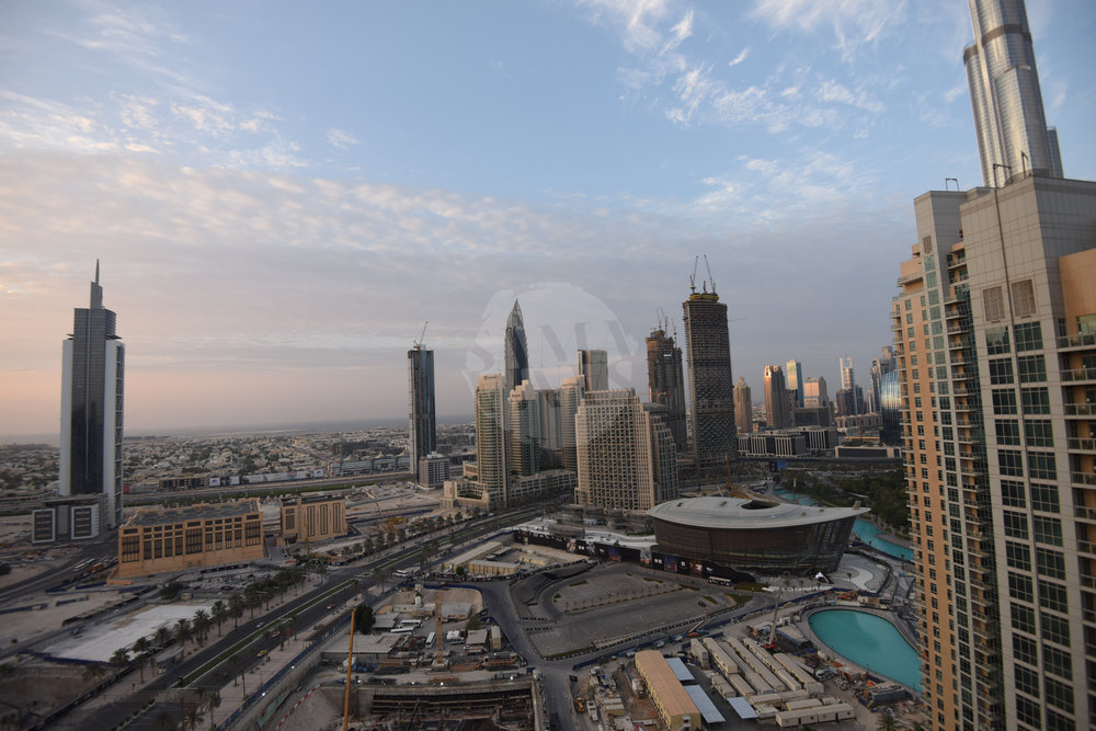 From the balcony you can enjoy breathtaking views of the Burj Khalifa and Downtown Dubai