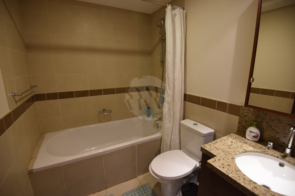 The bathroom is fully equipped with towels and other amenities provided for your stay