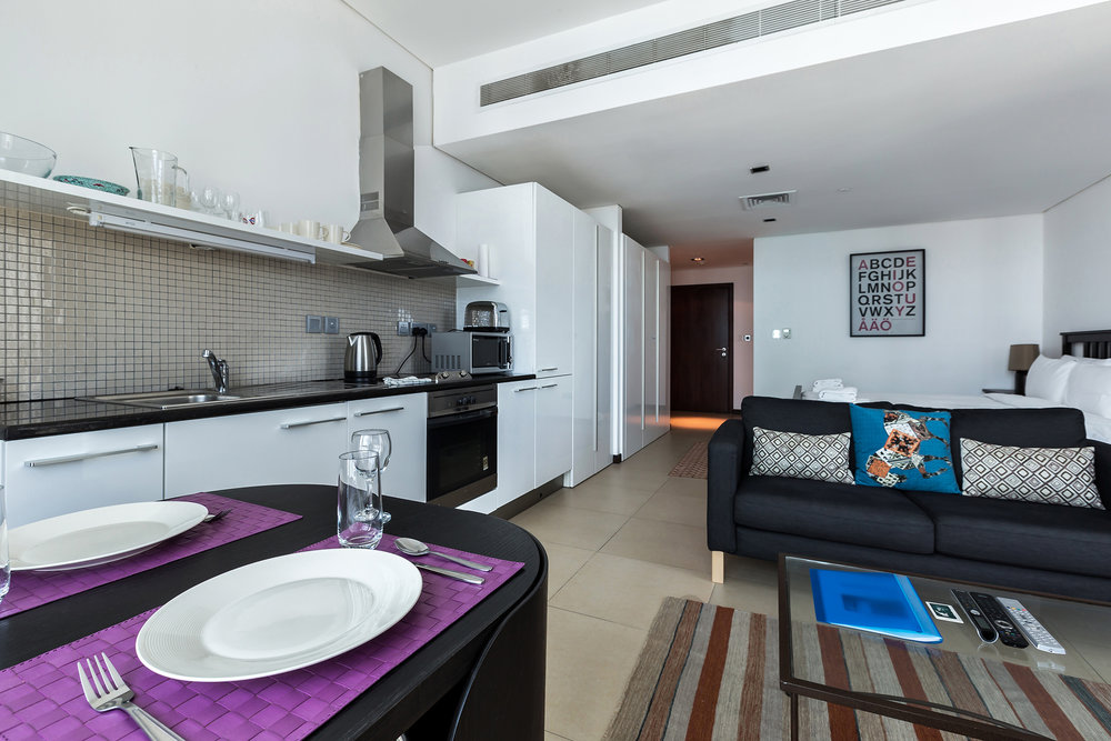 The fully equipped kitchen will enable you to feel really at home, whether it's cooking yourself a meal or grabbing yourself a convenient take away