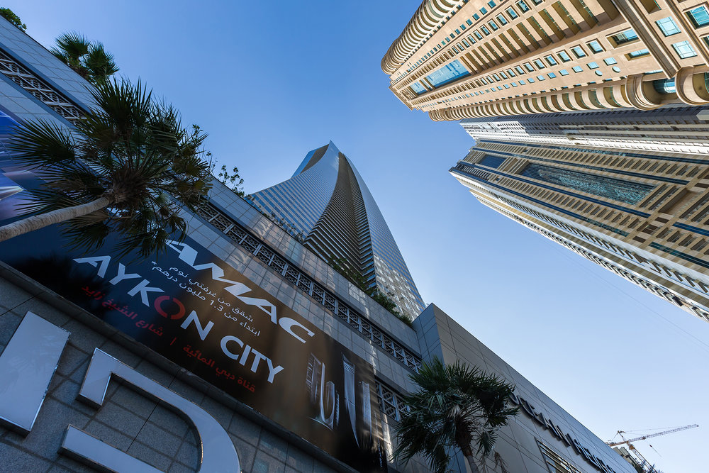 Walk around the grounds to take in the captivating views from the centre of Dubai Marina