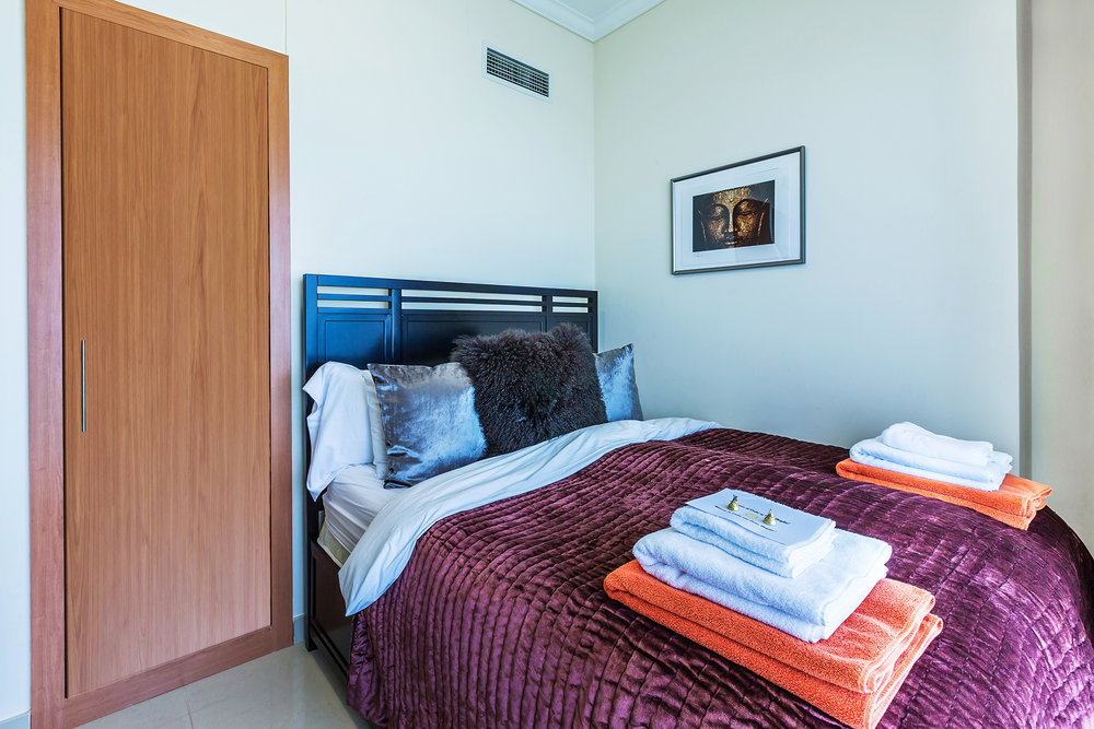 The second bedroom has a King-size bed, work space and HDTV - perfect for relaxing!