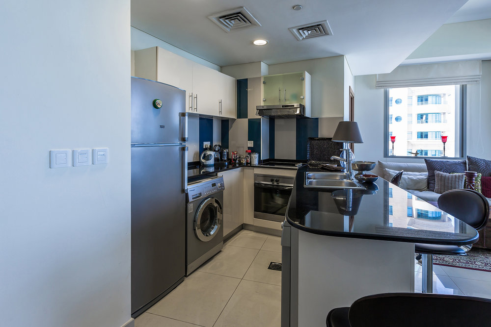 The kitchen is fully equipped with everything you need to help ensure you have the perfect stay