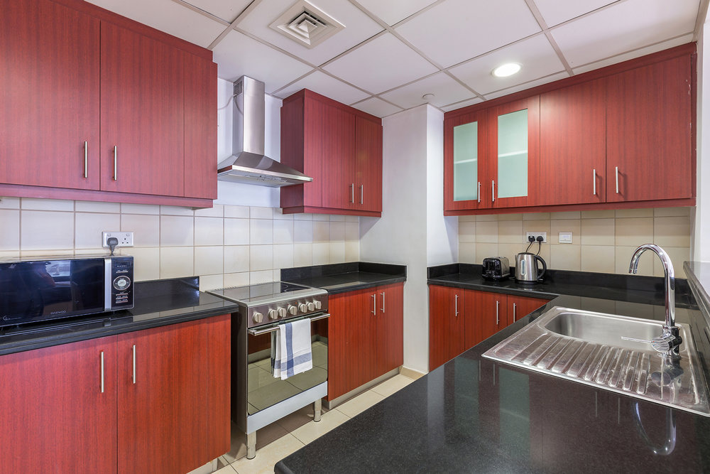 The kitchen is fully equipped with all you need to feel at home