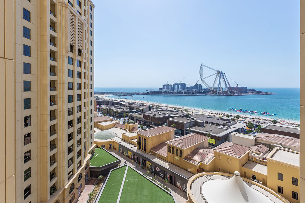The best view in JBR! The whole of this apartment looks out onto Dubai's most popular public beach.