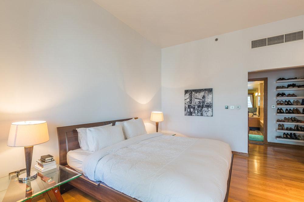 Dreamy bedroom with balcony access