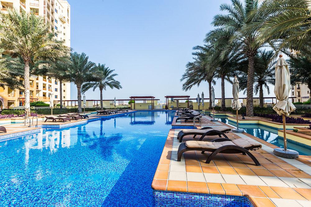 Sunbathe and swim in this amazing pool