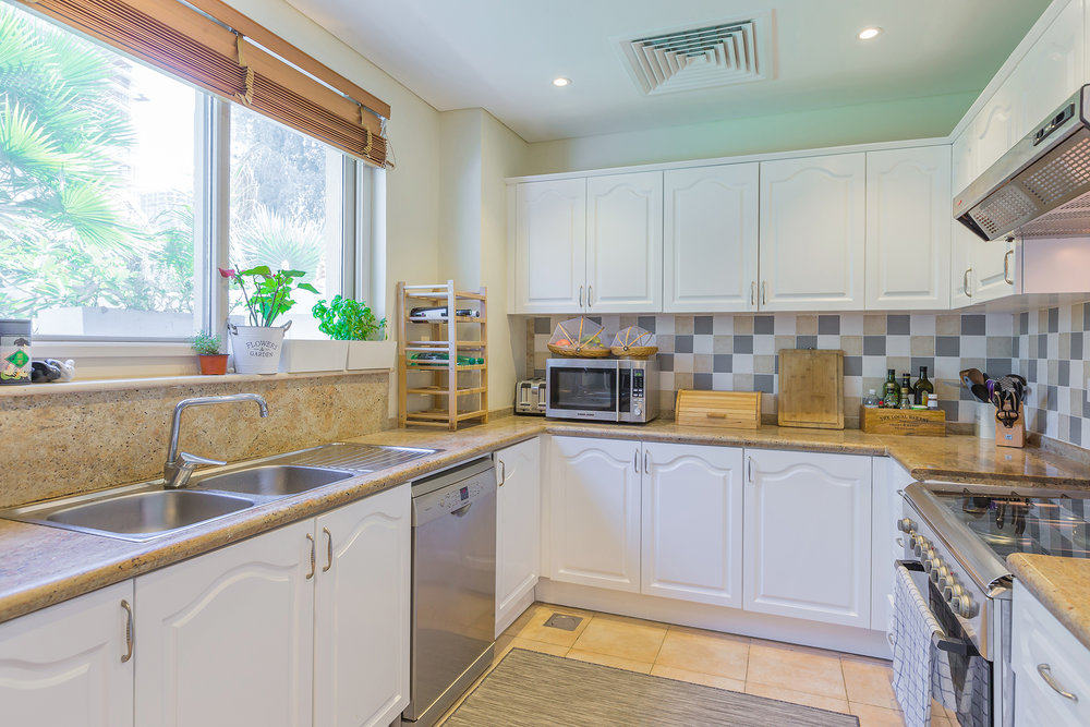 Furnished kitchen area that gives you a homey feel