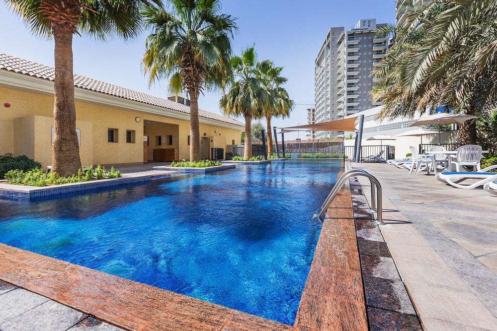 Neighbourhood pool only a few minutes' walk away