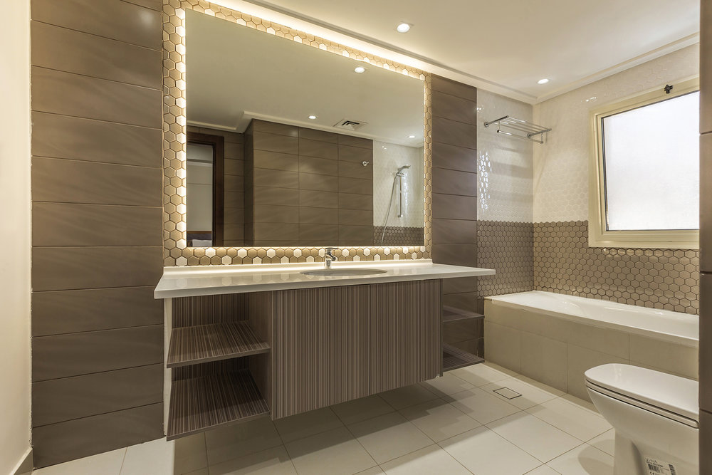 En-suite for each bedroom with contemporary design