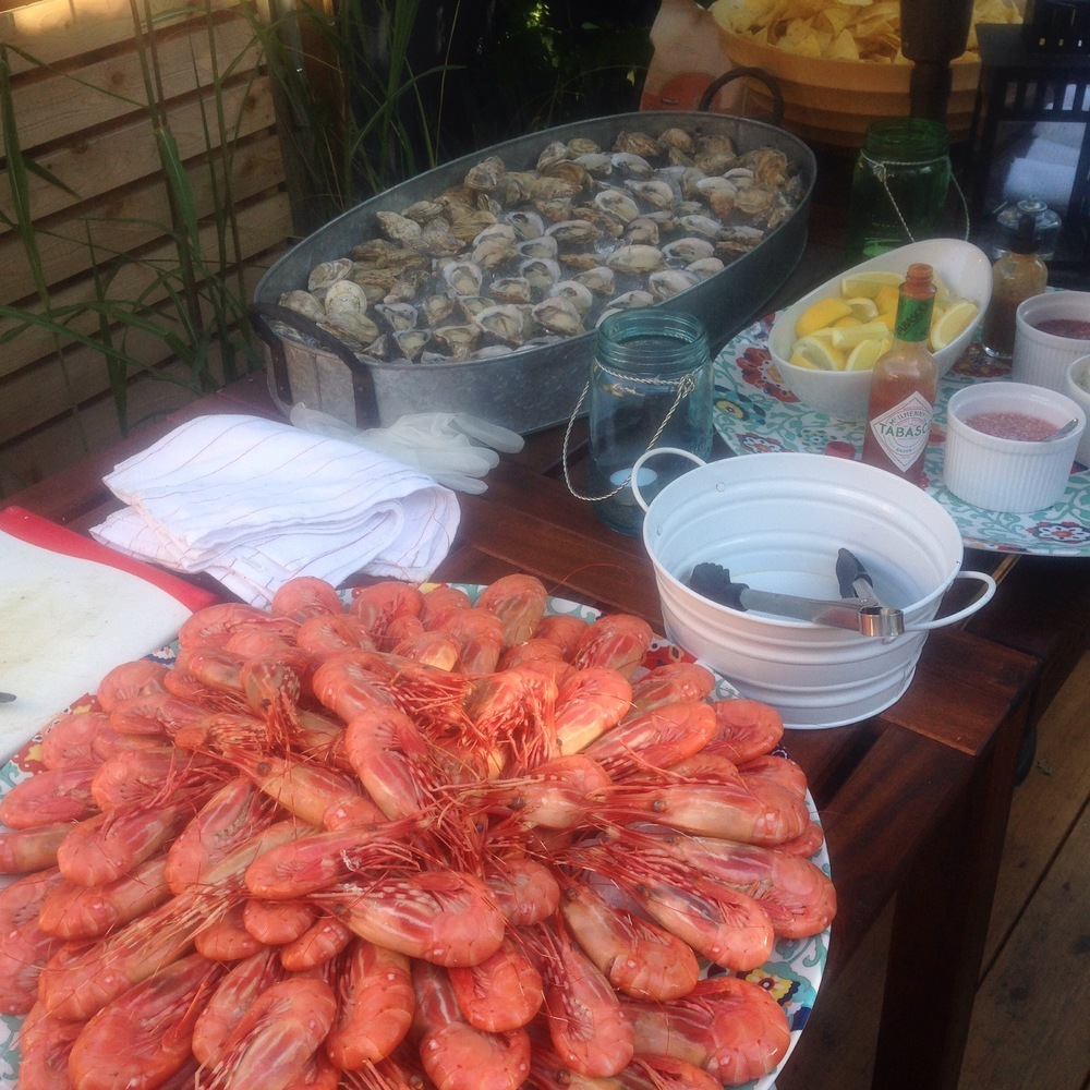 BC Spot Prawns & Fresh Shucked Oysters