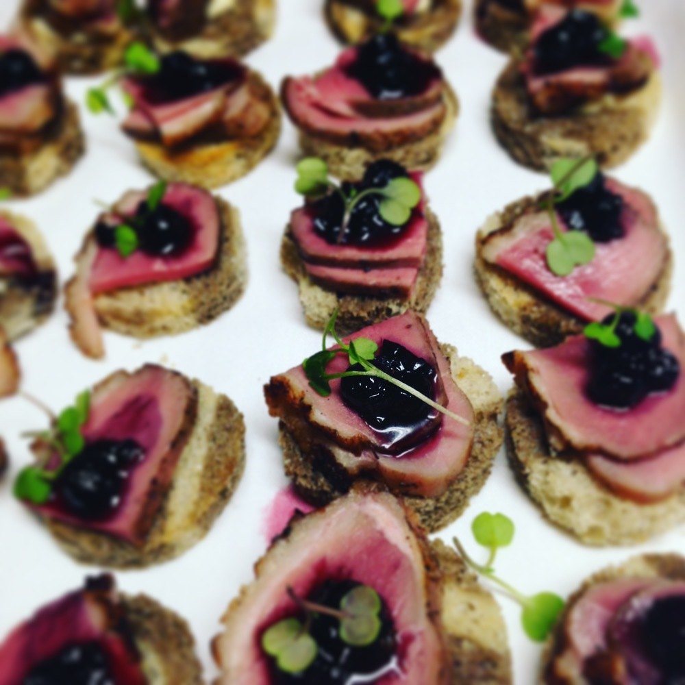 Duck Breast with Mountain Huckleberry Compote