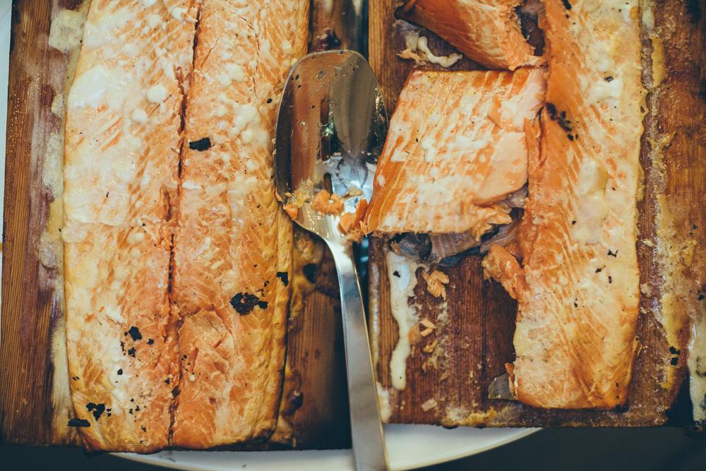 Cedar Planked Wild BC Salmon