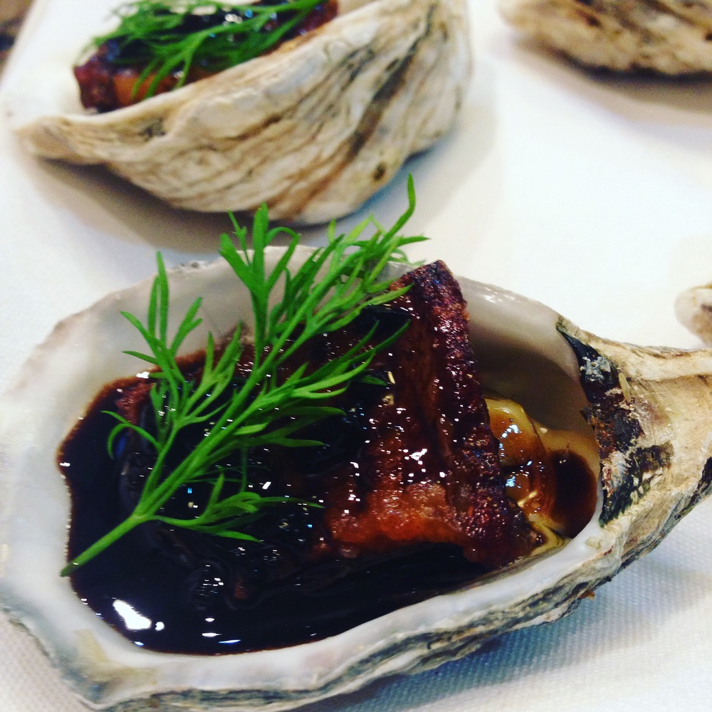 Baked Oyster with Blasamic Buerre Blanc