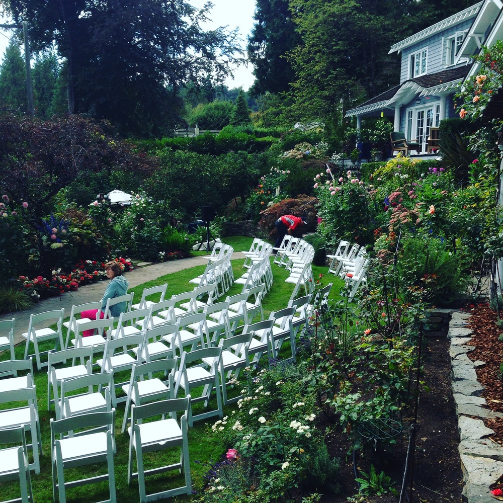 Setting up for Alex & Don's Wedding