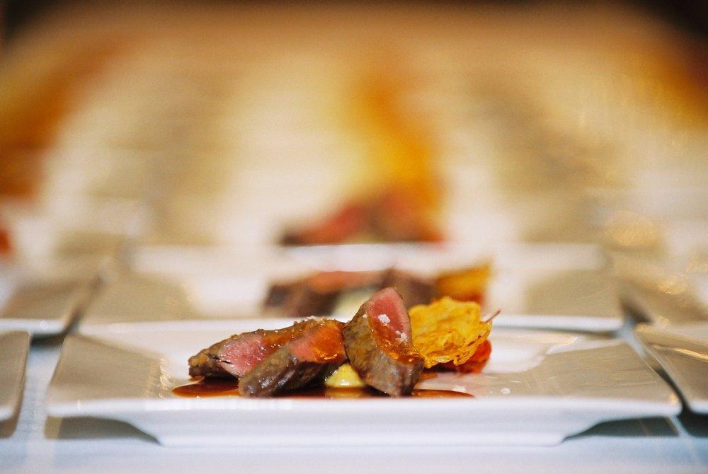 Beef Tenderloin - potato galette, red wine reduction