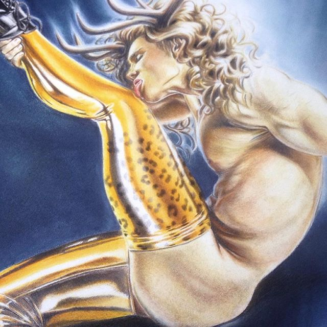 One last process image spam. @fabercastellglobal polychromos (coloured pencils) & @panpastel on Stonehenge paper. . . . #art #artist #draw #drawing #illmuse #gayillustration #illustration #maleart #fashionillustration #AustralianArtist  #contemporaryart #homoeroticart #instaart #instaartist #lowbrowart #pinupartist #pinupart #figuredrawing #homoerotic #melbourneart #fetishfashion #burlesque #boylesque #coloredpencil #eroticart #gayart #pencilart #balletheels #latex