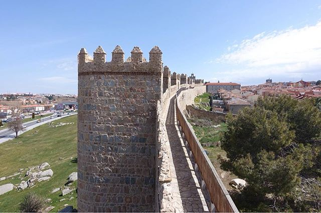 One of our favorite parts of visiting Ávila is being able to walk on top of the well-preserved city walls and climb up many of the towers that protect the old city. The views are great, and both times we've visited, we've pretty much been the only ones!