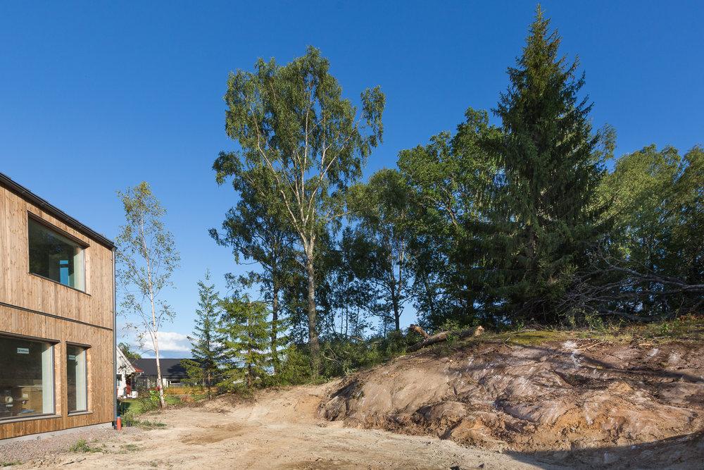 Vi skrapade fram bergsknallen som låg dold under jord och ris. Kommer bli hur fint som helst.