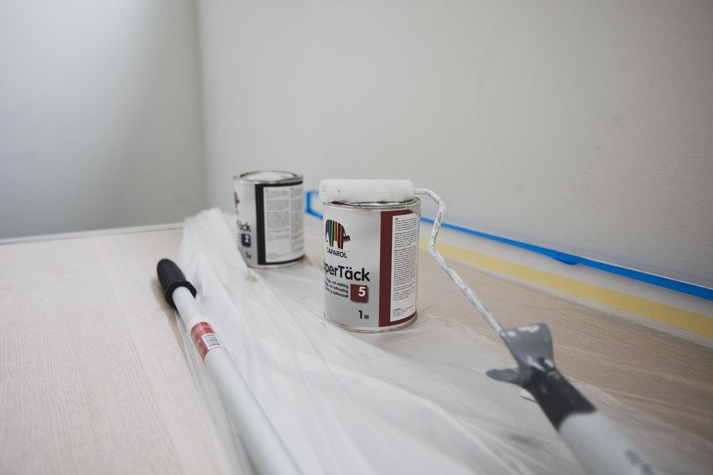 Trappan målas om av Kustvillan / Paralox