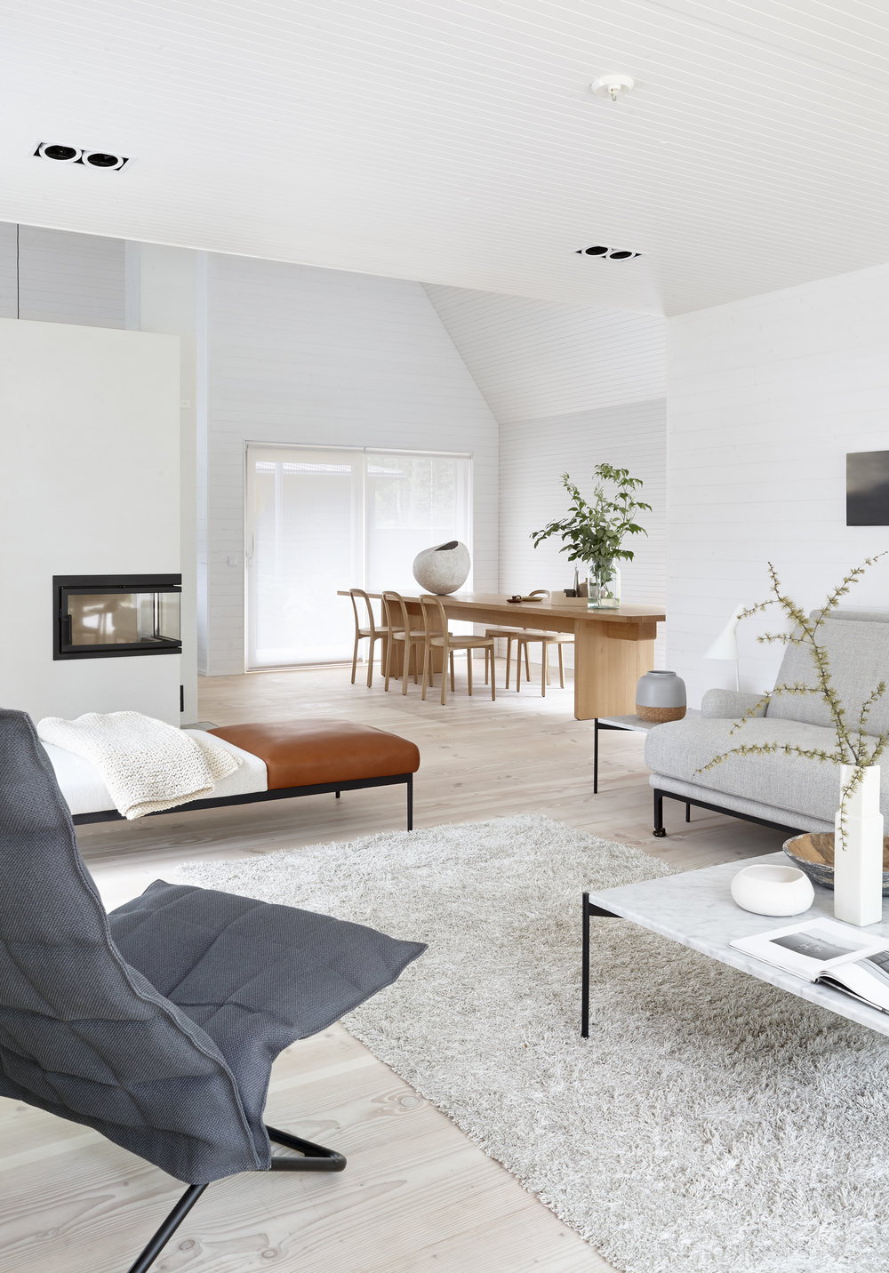 1640115 WILD Light Grey tufted linen wool carpet