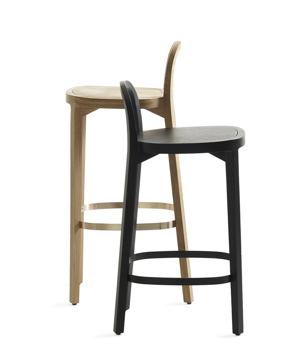 Siro + bar stools_black 65 cm_oak 75 cm