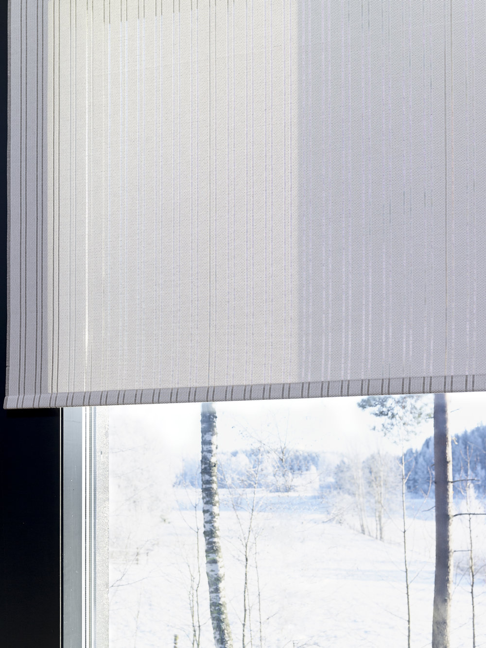 Cloud 2140115 white-stone two-colorde fabric, chain operated roller blind