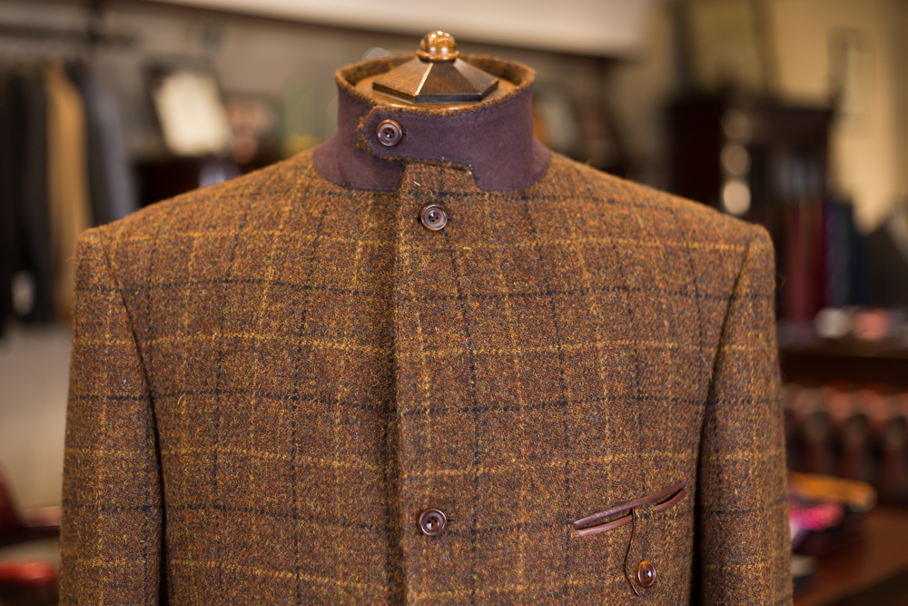 Suit 10 - Mens Brown Chequ Shooting Jacket Harris Tweed - 08.jpg