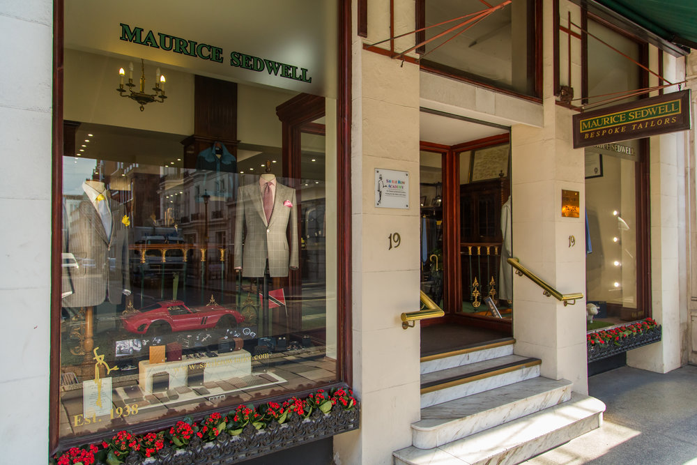 The Maurice Sedwell store on Savile Row