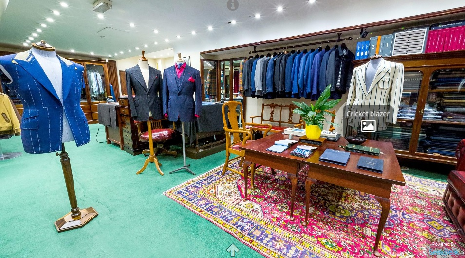 Visit our 360 virtual reality exhibition! - Look around our store at 19 Savile Row and take a journey through different garments marking the eight decades of our tailoring.