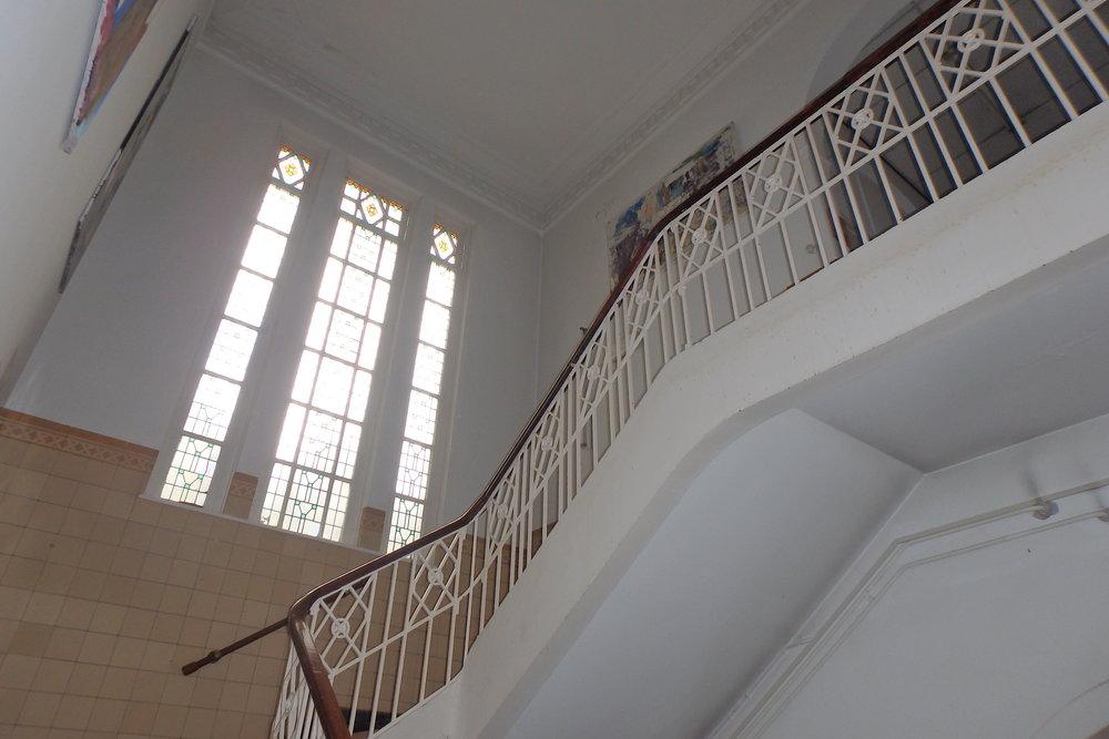 * Te handhaven trappenhuis in bouwnummer 6