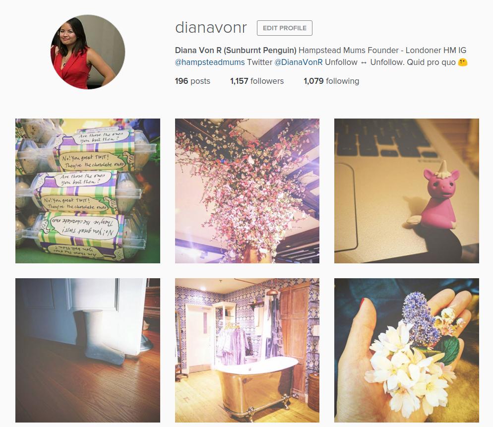 DianaVonR instagram
