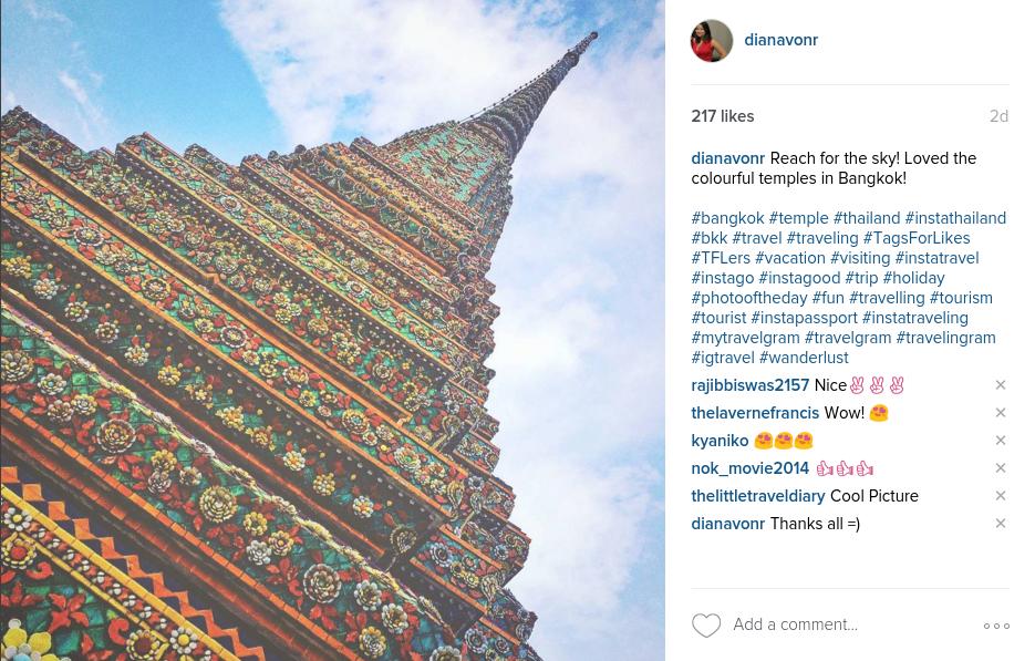 Thailand Instagram DianaVonR