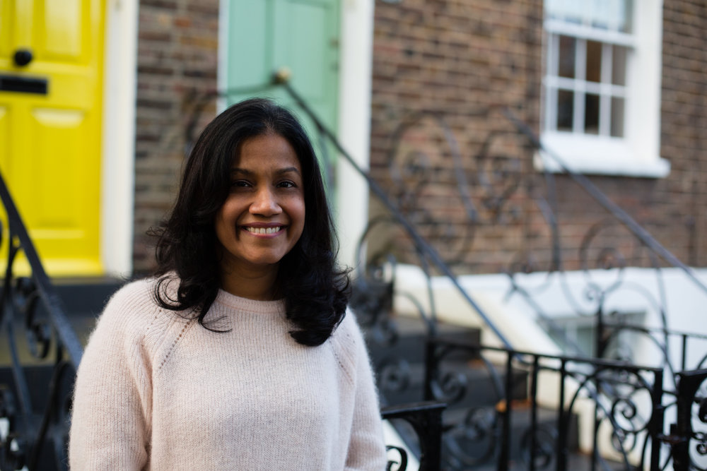 Rajni - mums in the wood - Diana von R Social Photographer Hampstead London NW3