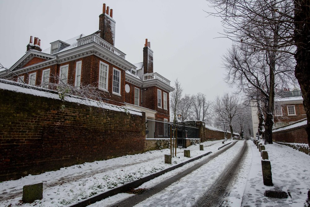 hampstead snow London 2017 Diana von r Fenton house