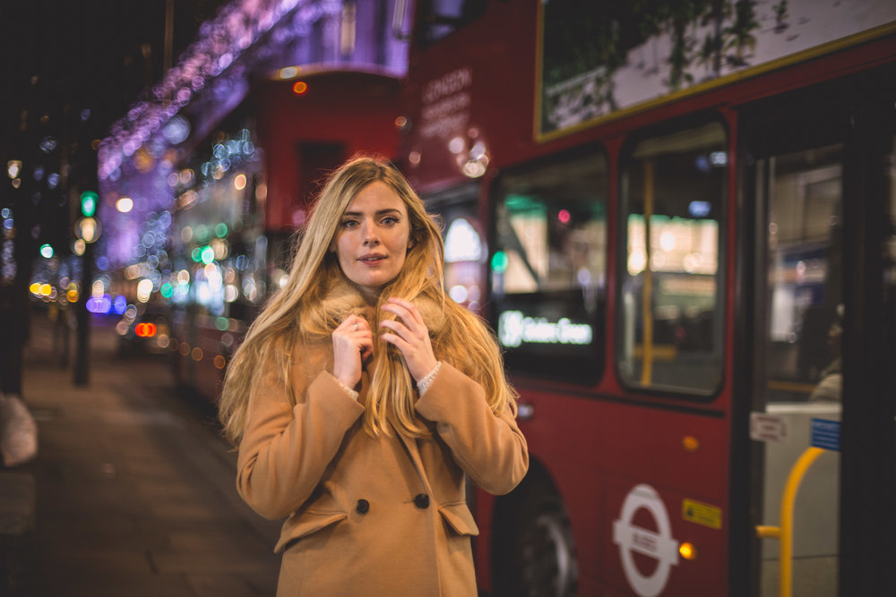 Regents Street Bokeh Photo Shoot London Christmas