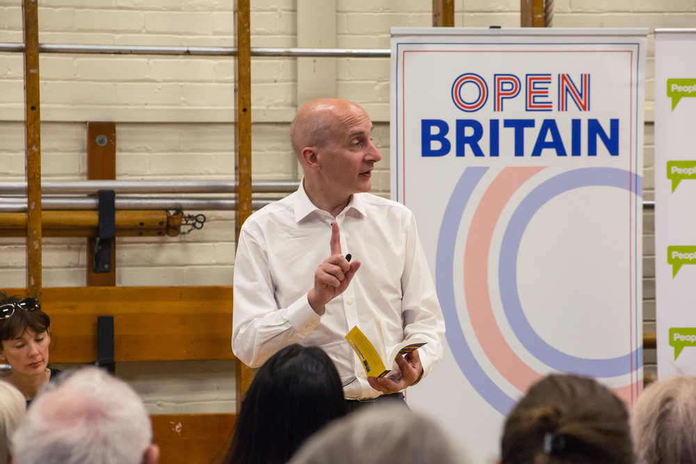 Open Britain Hampstead Diana von R Lord Adonis