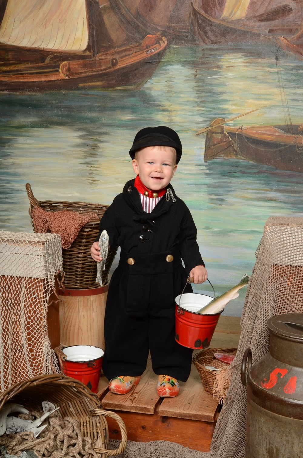 Boy in Volendam costume