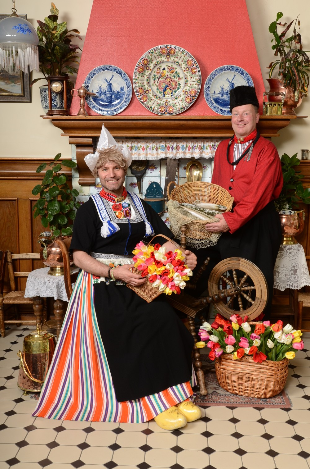 Friends in Volendam costume