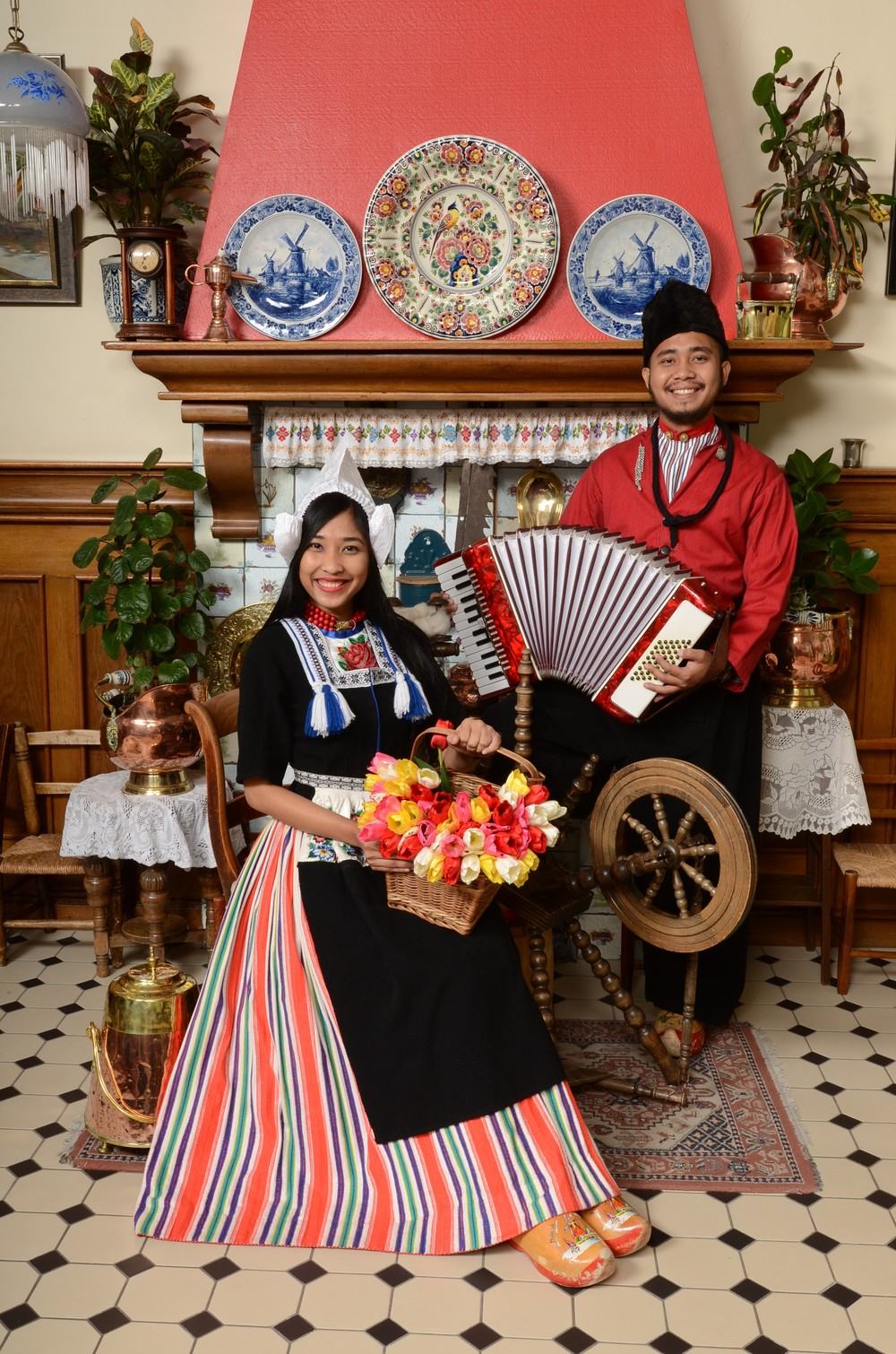 Couple in Volendam costume