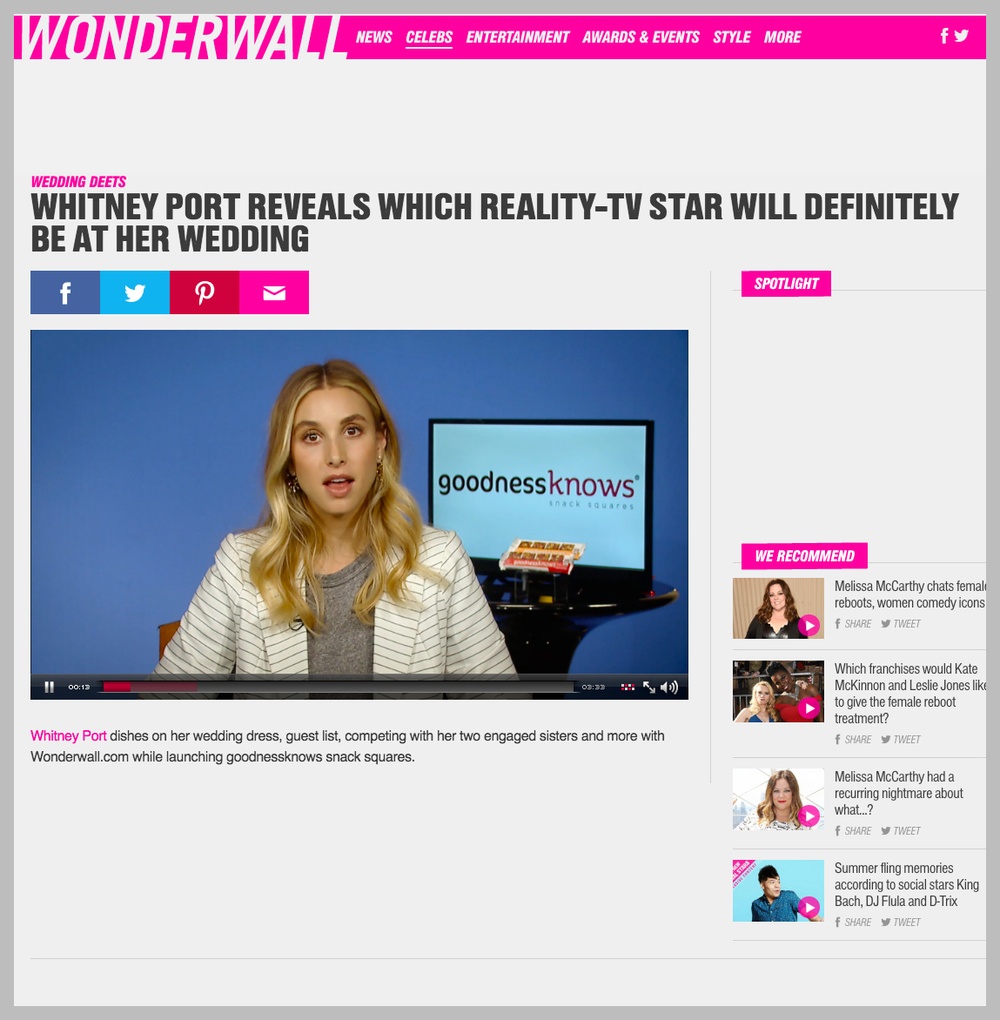 Watch Whitney Port on Wonderwall