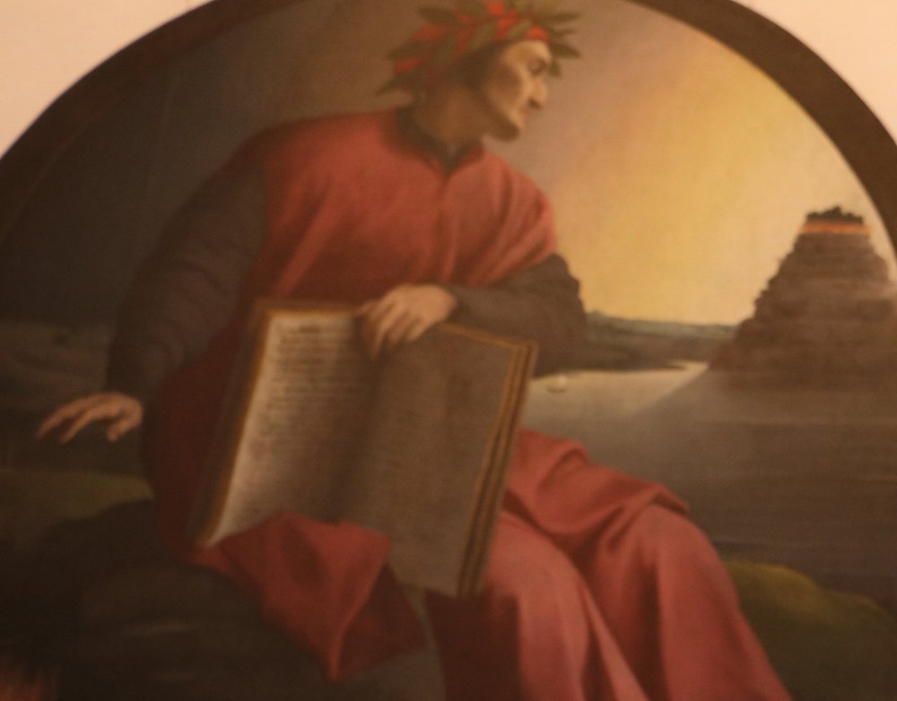 Portrait of Dante in Ufizzi Gallery, Florence