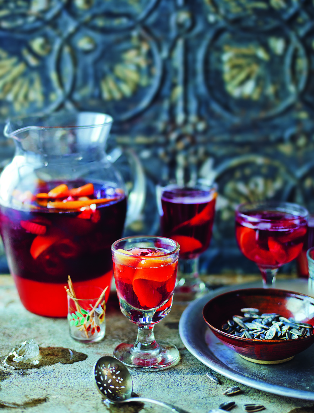 Warm and fruity Mulled Sangria