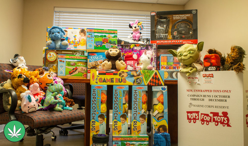 PAH takes part in its first local ' Toys For Tots ' toy drive. All of these toys were brought in by Sportland Arcade located on the Ocean City boardwalk!