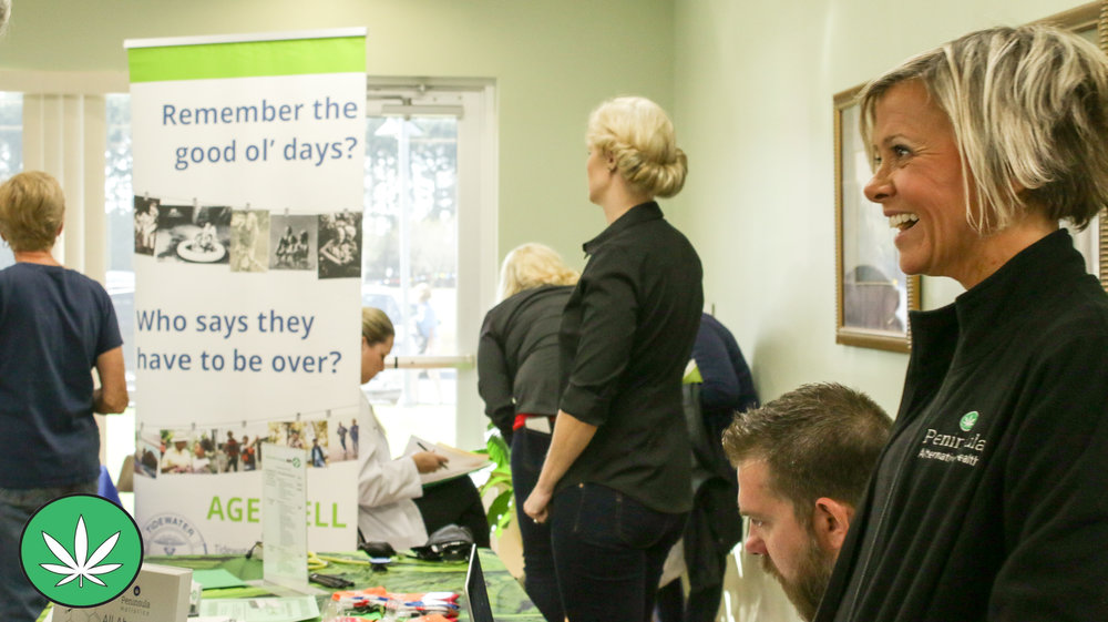 Clinical Director, Dr. Mary Patt Hoffman speaking to the public at ' Thrive 55 ' at MAC hosted by the Salisbury Independent.