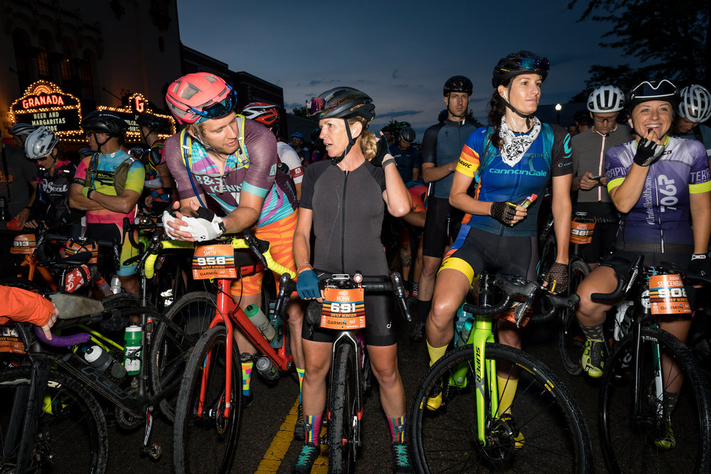 Photo by Chris Nichols. On the start line, hopeful and excited for the challenge ahead.