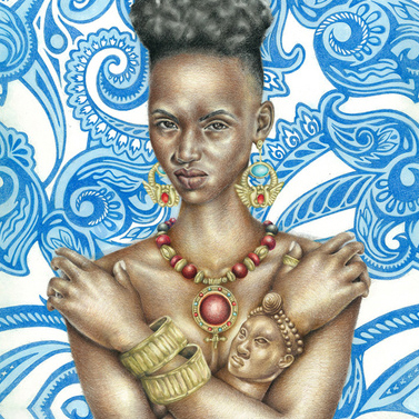 Mother of the Neteru (Kemet/Egypt): African Art and Painting by Josh Sessoms Art. Philadelphia, Raleigh/Durham and New York.